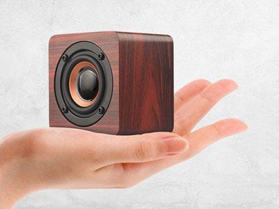 CAFERRIA 3w 4ohm 1200mah wireless mini wood speaker