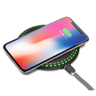 CASUN 10w 9v1.3A dual usb round night light wireless charger